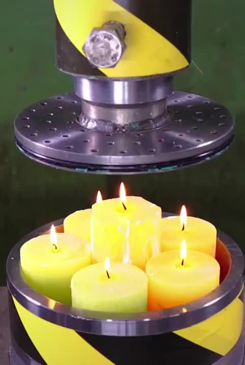Watch and share Hydraulic Press Vs Candles GIFs on Gfycat