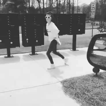 Watch and share Millie Bobby Brown Dancing To Michael Jackson GIFs on Gfycat