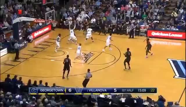 (2) Villanova survives Georgetown rally | 2017 COLLEGE BASKETBALL HIGHLIGHTS GIFs