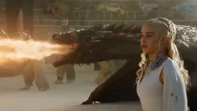 Watch Game of Thrones 5x09 - Drogon rescues Daenerys GIF on Gfycat. Discover more celebs, emilia clarke GIFs on Gfycat