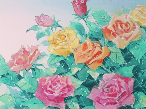 anime, beautiful, birthday, colorful, flower, flowers, happy, rose, roses, Flowers for you GIFs