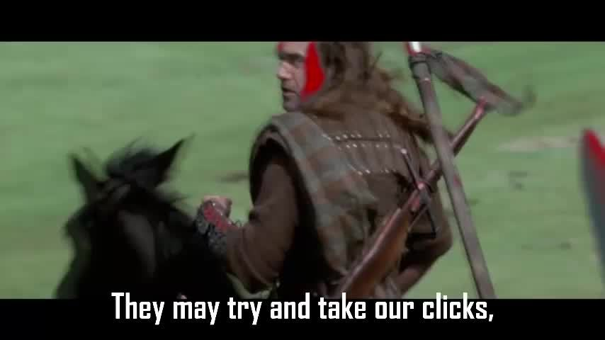highqualitygifs, knightsofthebutton, They may try and take our clicks... GIFs
