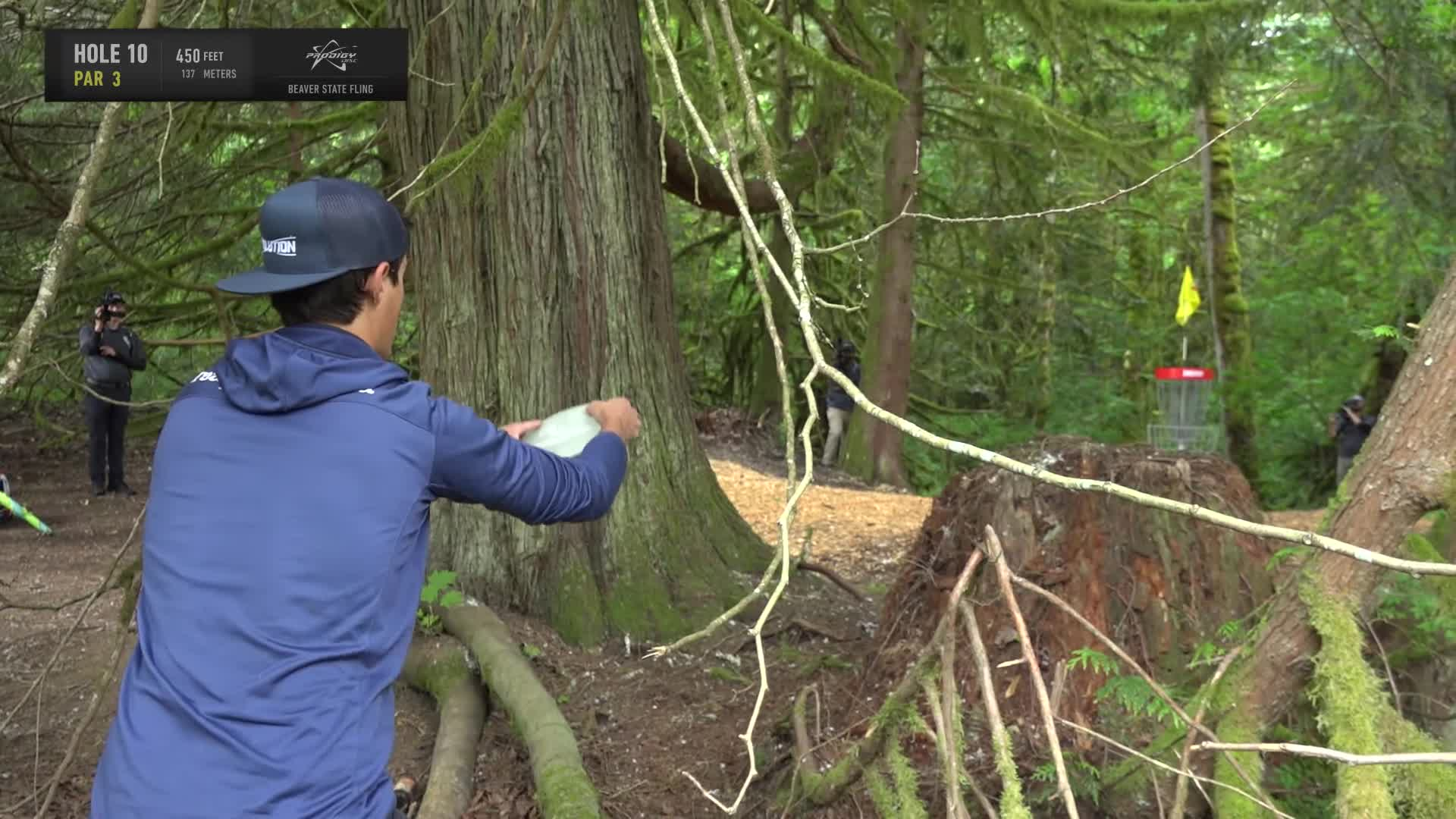 ace, bsf, dela, delaveaga, dgpt, dgwt, disc, disc golf, frolf, hole in one, masters cup, mcbeast, milo, nate sexton, nt, paul mcbeth, pdga, simon lizotte, tournament, worlds, 2019 Beaver State Fling - Round 1 Part 2 - Eagle McMahon hole 10 putt GIFs