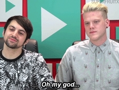 TheFineBros, YOUTUBERS REACT TO FIRST KISS, completed request, mitch grassi, scott hoying, superfruit, BOOP BOOP GIFs
