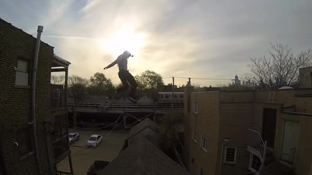 Watch Crazy roof jump w/ gopro footage (reddit) GIF on Gfycat. Discover more SweatyPalms, sweatypalms GIFs on Gfycat