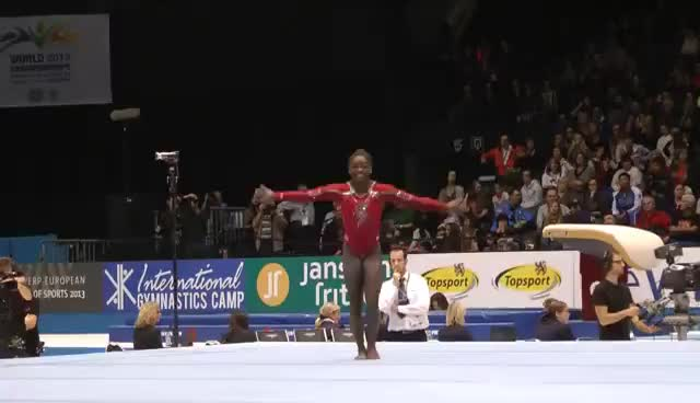 gymnast, gymnastics, simone biles, Simone Biles Floor GIF 3 GIFs