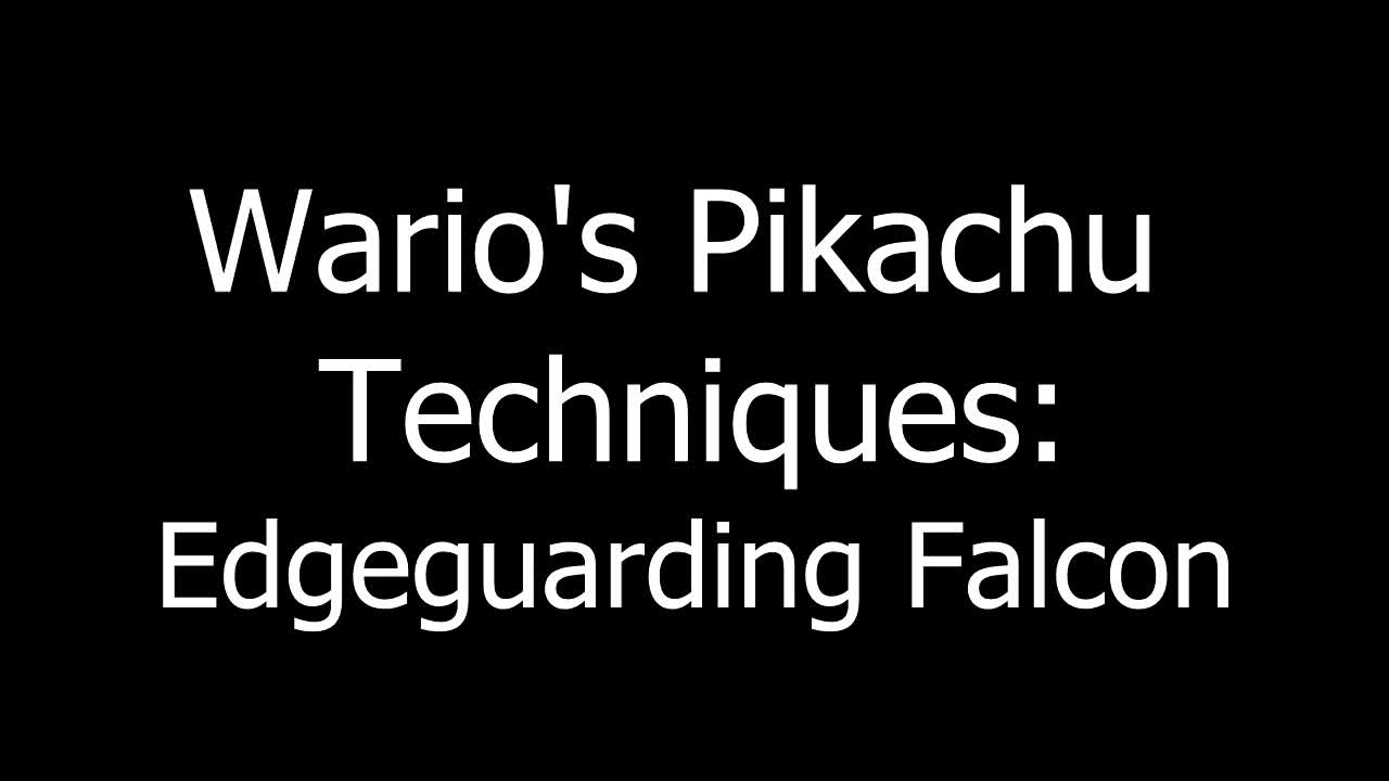 Gaming, Mariguas, Superboomfan, Wario, edgeguards, genesis 3, nixthenamed, pikachu, smash 64, smashgifs, ssb64, ssmb, super smash bros, SSB64: Wario's edgeguards on falcon, Genesis top 8 GIFs