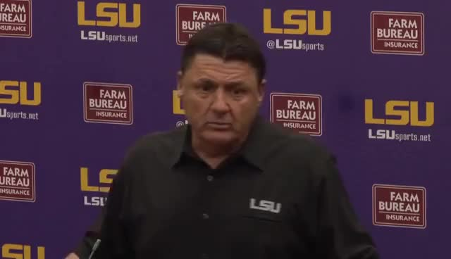 Watch and share LSU Football Coach Ed Orgeron Speaks Before Spring Practice GIFs on Gfycat