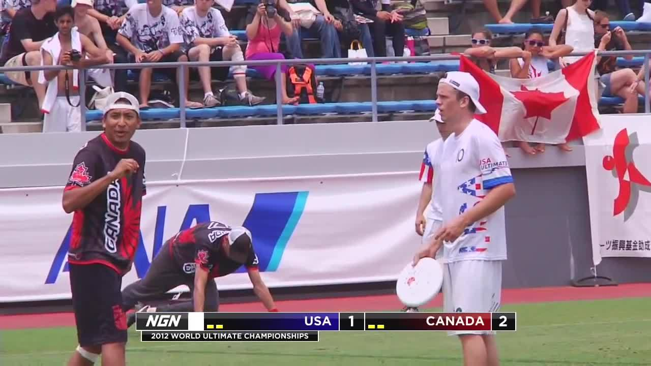 USA vs Canada - 2012 World Ultimate Championships - Men's Semifinal