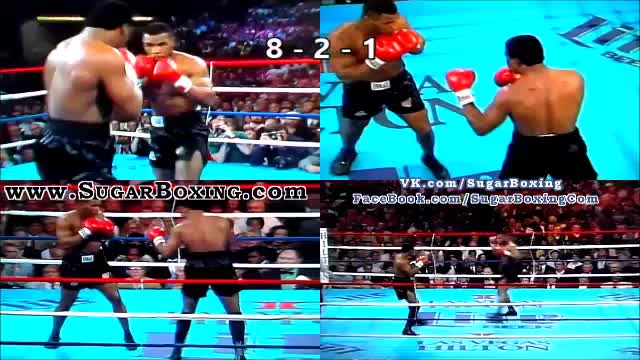 Watch Mike Tyson Combo in Peekaboo 008b: jab to the midsection - right hand - left hook GIF by sugarboxing on Gfycat. Discover more related GIFs on Gfycat