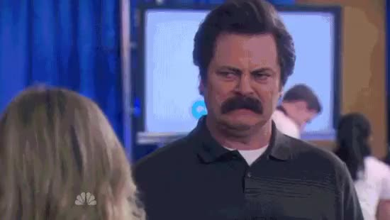 Watch and share Nick Offerman GIFs and Amy Poehler GIFs on Gfycat