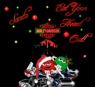 Watch and share Santa Eat Your Heart Out M&m Harley Davidson GIFs on Gfycat
