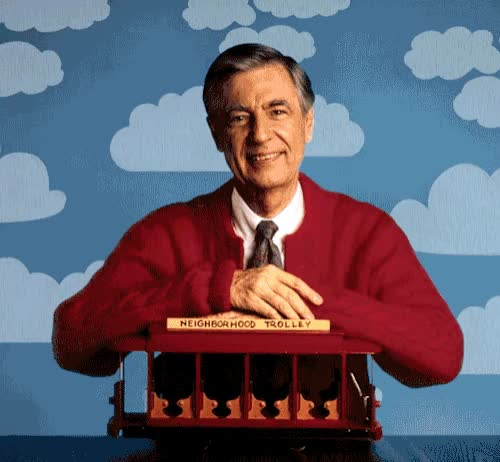 Watch and share Mister Rogers GIFs and Fred Rogers GIFs by Reactions on Gfycat