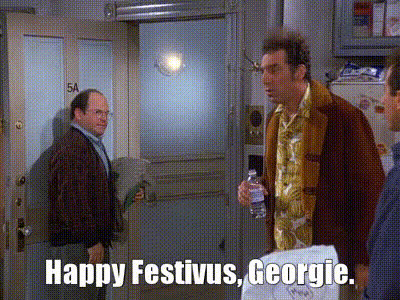 festivus, festivus for the rest of us, frank costanza, happy festivus, holiday, seinfeld, Happy Festivus GIFs