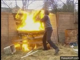 Watch and share Men Behaving Badly - Barbeque GIFs on Gfycat