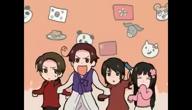 Watch APH Hale Nochi Guu GIF on Gfycat. Discover more APH, Hetalia, anime, dance, kawaii GIFs on Gfycat
