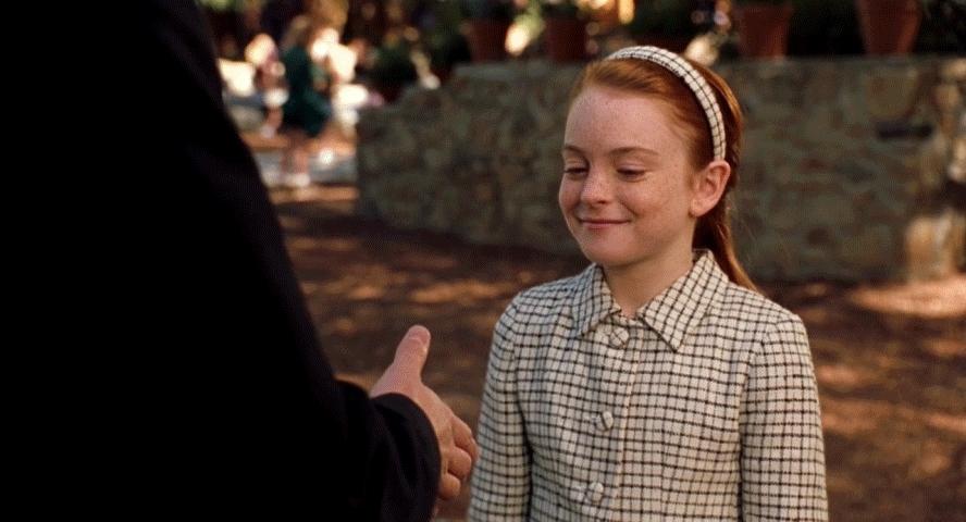crackiswhack, handshake, lindsay lohan, lindseylohan, Handshake from The Parent Trap GIFs