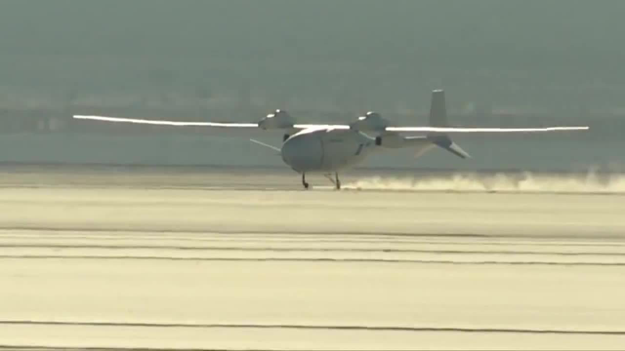 aviationgifs, Hydrogen powered flight - Boeing Phantom Eye takes off from a dolly on its first flight (reddit) GIFs