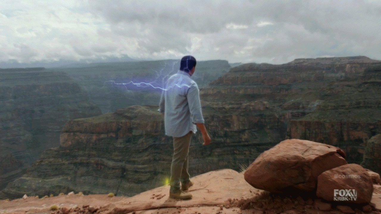 SuperSaiyanGifs, funny, Neil Degrasse Tyson going Super Saiyan on Cosmos (reddit) GIFs