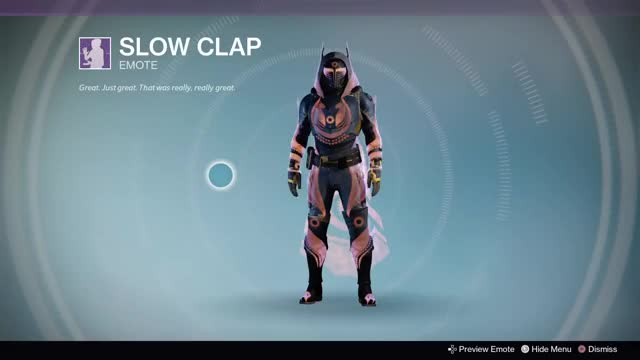 Watch this applause GIF by Kyle (@mlimkyle) on Gfycat. Discover more applause, clap, clapping, destiny, playstation 4, ps4share, slow clap, sony interactive entertainment GIFs on Gfycat