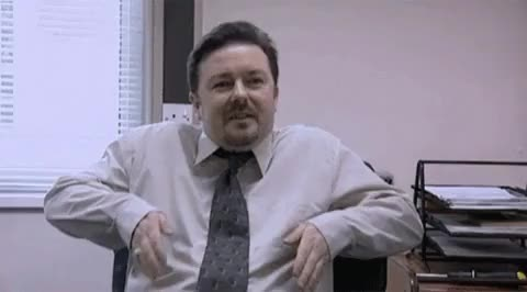 Watch and share David Brent Ricky Gervais The Office GIFs on Gfycat