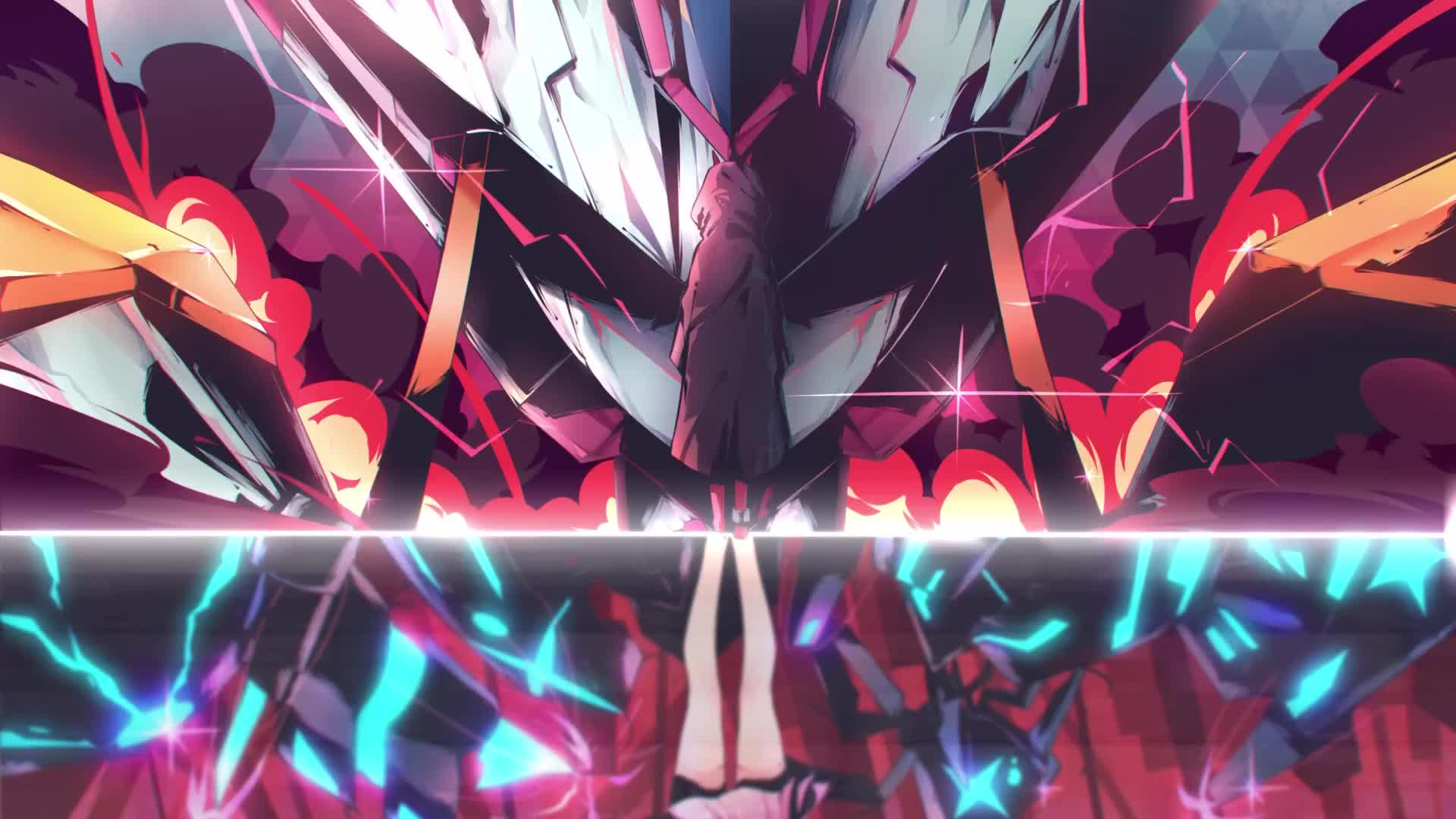 Darling In The Franxx 002 Reflection Live Wallpaper Gif Gfycat