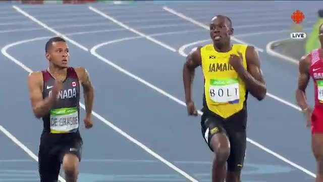 canada, furry, olymgifs, DeGrasse Bolt Bromance continues in the 200 M GIFs