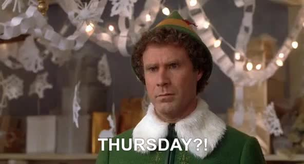 Watch this thursday GIF by entfanatic on Gfycat. Discover more celebs, christmas, days of the week, elf, thursday, will ferrell GIFs on Gfycat