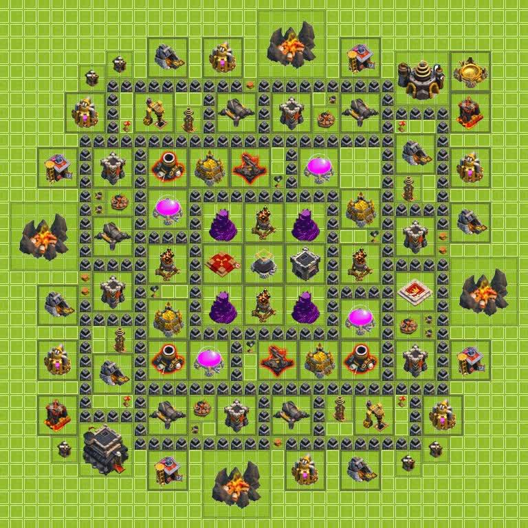 Introducing MASSACORE: A TH9 farming [base] : ClashOfClans GIFs