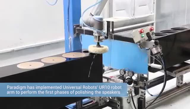 Watch A collaborative robot from Universal Robots polishes Paradigm to 50% production increase GIF on Gfycat. Discover more related GIFs on Gfycat