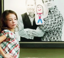 6.02, Cam Tucker, Mitchell Pritchett, Modern Family, cam tucker, do not push, gif, lily tucker-pritchett, mitchell pritchett, modern family, season 6, Modern Family GIFs