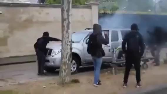 Watch Car vandalized in daylight by rioters GIF on Gfycat. Discover more publicfreakout GIFs on Gfycat