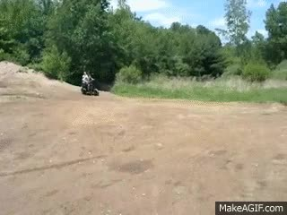 Watch passenger falls off scooter during off road jump (scooter fail) motorcycle fail GIF on Gfycat. Discover more related GIFs on Gfycat