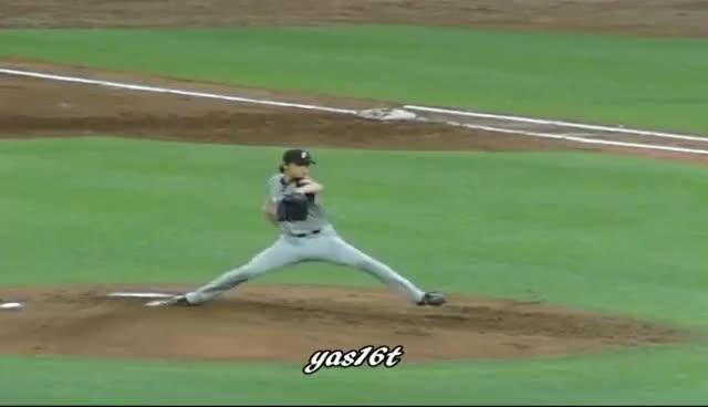 Pitcher, Pitching, darvish, mechanics, npb, yu, '09/06/20スーパースローで見るダルビッシュのフォーム(側面から) GIFs