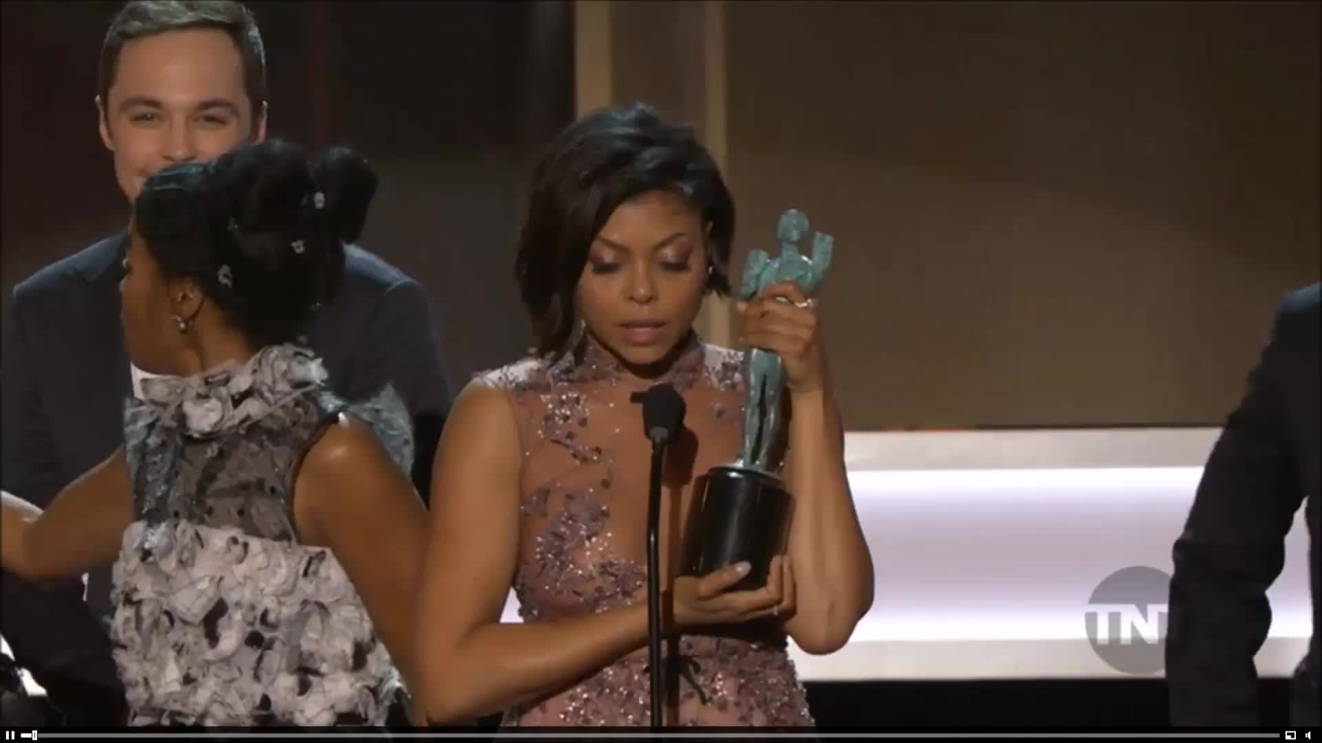 Jim Parsons, Taraji P. Henson, sagawards, sagwards2017, sagwards2032, screenactorsguildaward, Screen Actors Guild Awards 2017 GIFs