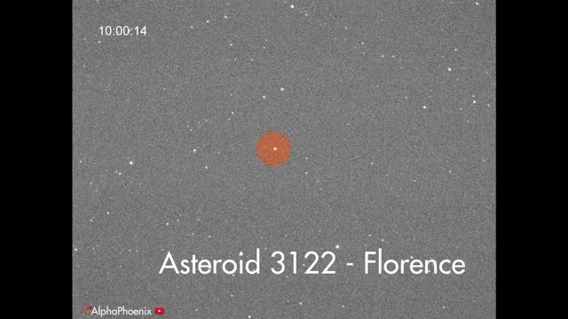 Watch Asteroid 3122 Florence GIF by Alpha Phoenix (@alpha-phoenix) on Gfycat. Discover more asteroid, astronomy, telescope GIFs on Gfycat