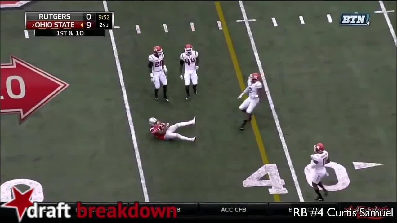 Curtis Samuel vs Rutgers (2016) 1 GIFs