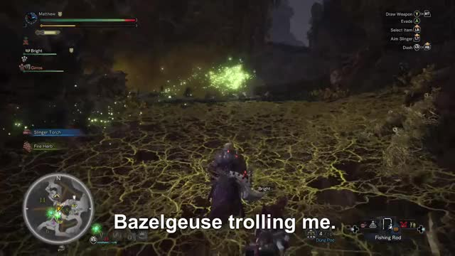 Watch Bazelgeuse flexing its troll talent.  GIF by Gamer DVR (@xboxdvr) on Gfycat. Discover more LiveLethani, MONSTERHUNTERWORLD, xbox, xbox dvr, xbox one GIFs on Gfycat