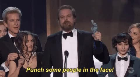 Watch this david harbour GIF on Gfycat. Discover more david harbour, finn wolfhard, punch GIFs on Gfycat