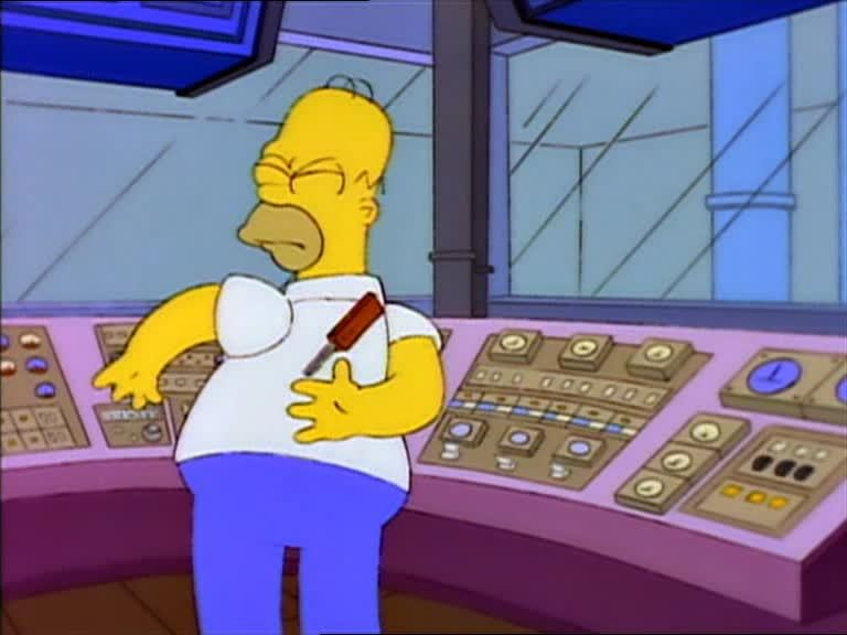 thesimpsons, Look at him, Smithers. Exercising away while the others are off at the candy machine. (reddit) GIFs