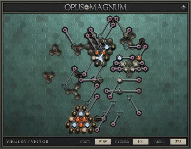 Watch and share Opus Magnum - VIRULENT VECTOR (915G, 104, 273, 2019-02-02-22-23-50) GIFs on Gfycat