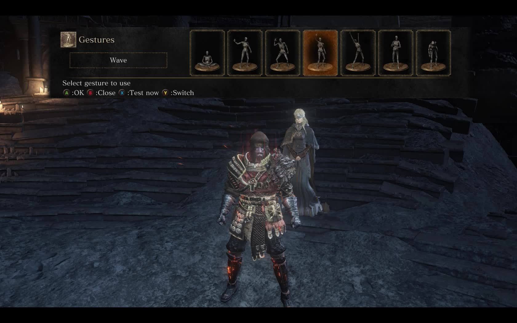 darksouls3, Did you know Fire Keeper waifu gestures you back? I did some gifs. (reddit) GIFs