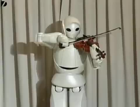 Watch and share Robot Violinist GIFs on Gfycat