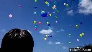 Watch and share 100's Of Balloons Floating Away At The Same Time GIFs on Gfycat
