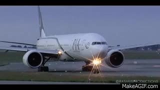 Watch and share Boeing 777-300ER PIA - GE90 Engine Start! Paris Charles De Gaulle Airport GIFs on Gfycat