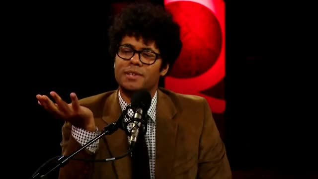 "Watch Richard Ayoade & Jesse Eisenberg on ""The Double"" GIF on Gfycat. Discover more cbc, celebrity, celebs, doppelganger, interview, qtv, richard ayoade, tiff GIFs on Gfycat"