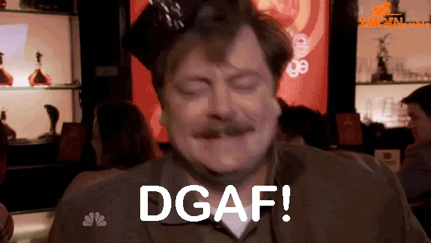 dgaf, idgaf, parks and rec, parks and recreation, ron swanson,  GIFs