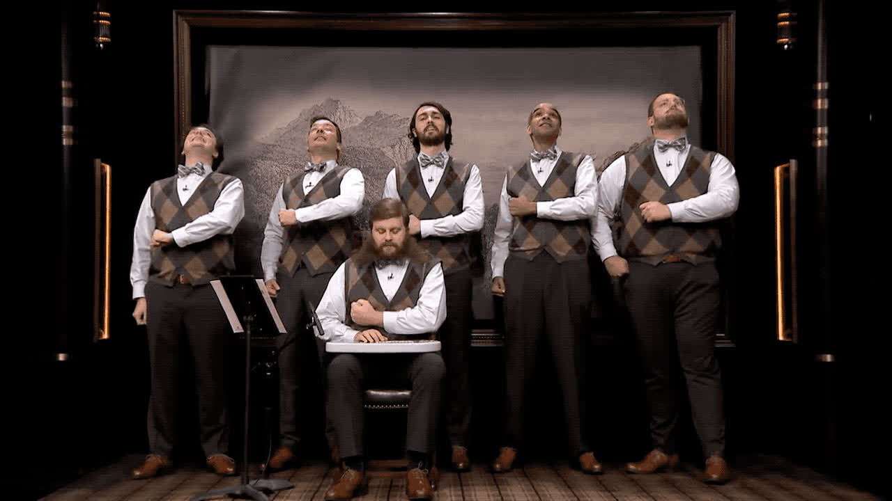 chorus, day, gentlemen, glad, good, gracias, green, riddance, sing, thank, thanks, you, The gentlemen's chorus - Thank you GIFs