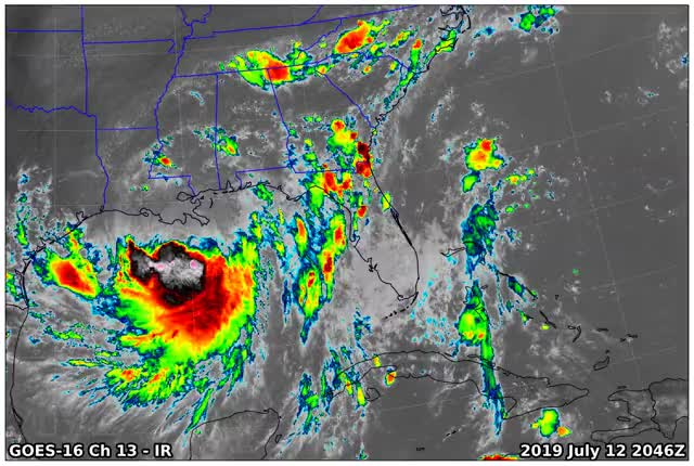 Watch and share GOES16 Ch13 2019 07 12 2046 GIFs on Gfycat