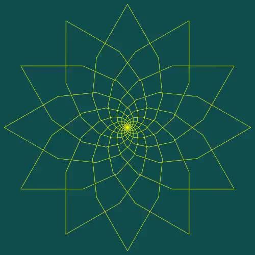 Watch and share Fibonacci Flower  GIFs on Gfycat